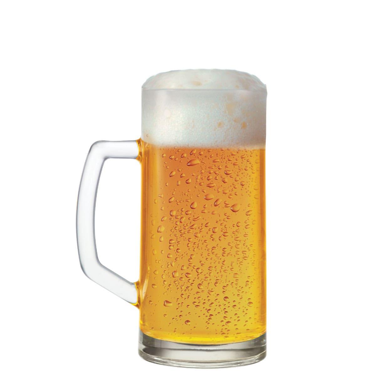 Caneca de Chopp de Vidro ou Cerveja Berna Lisa G 635ml