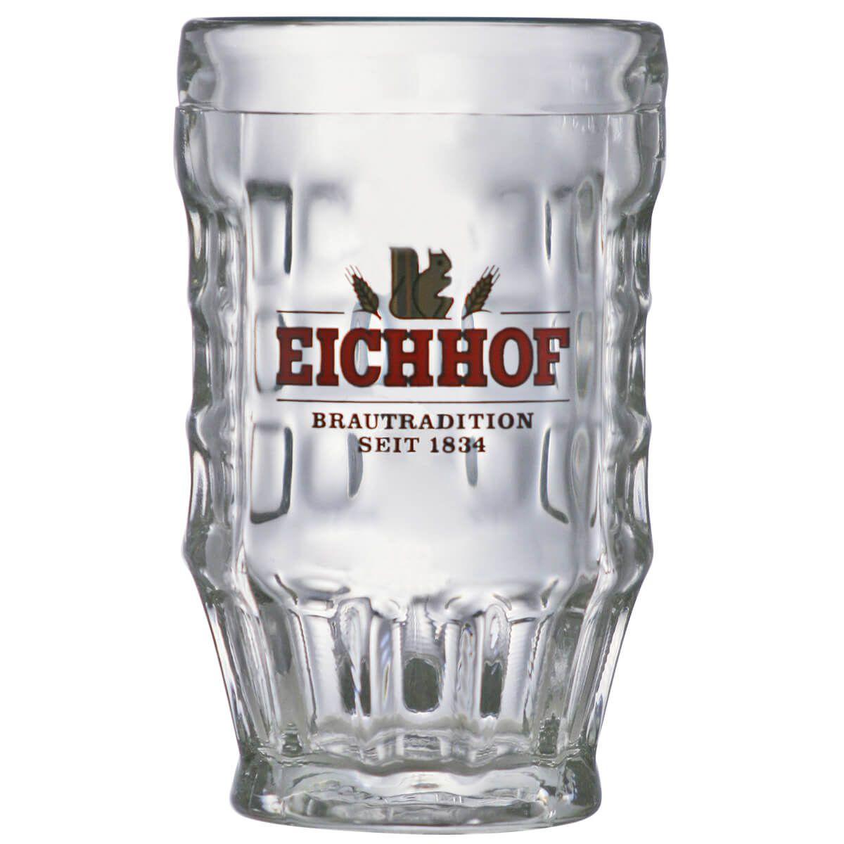 Caneca de Chopp de Vidro ou Cerveja Eichhof 360ml