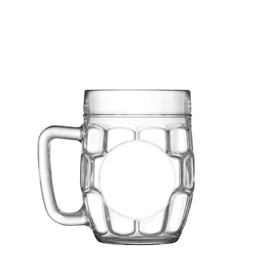 Caneca de Chopp de Vidro ou Cerveja Hopfen 610ml