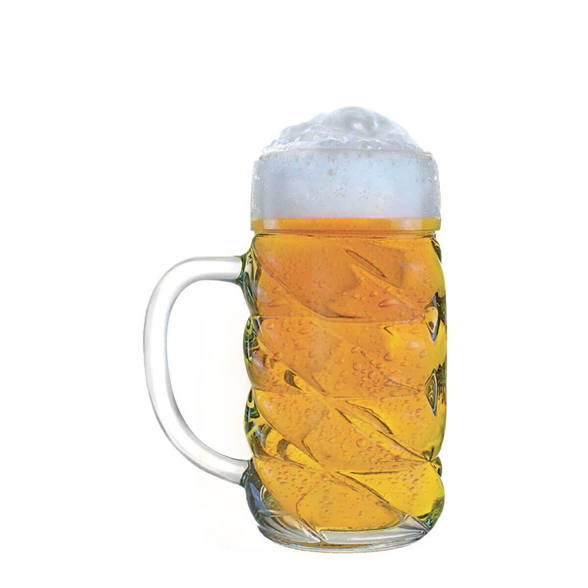 Caneca de Chopp de Vidro ou Cerveja Mass Krug Diamond