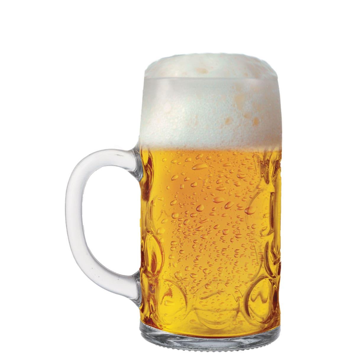 Caneca de Chopp de Vidro ou Cerveja Mass Krug M 610ml