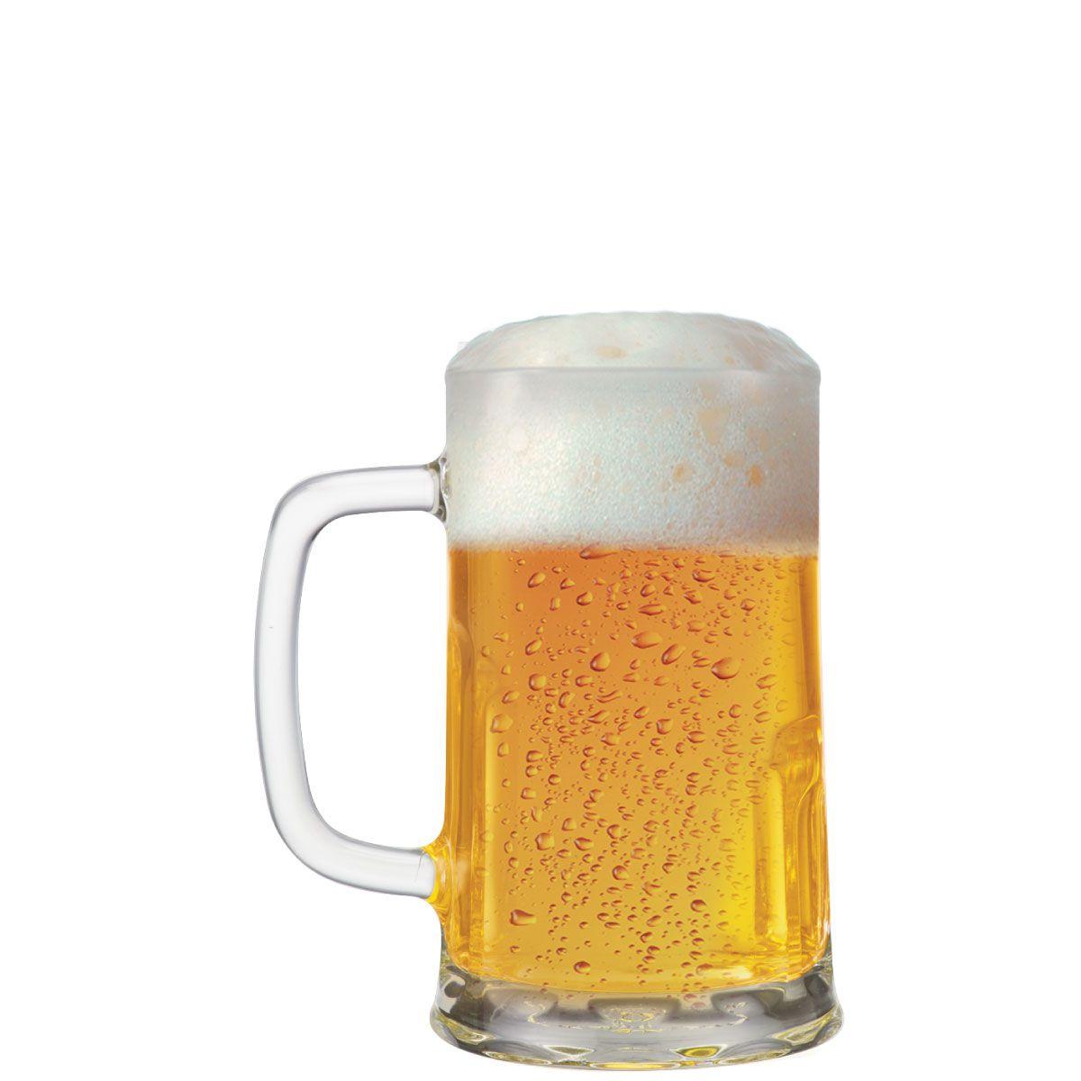 Caneca de Chopp de Vidro ou Cerveja Tudor M 415ml