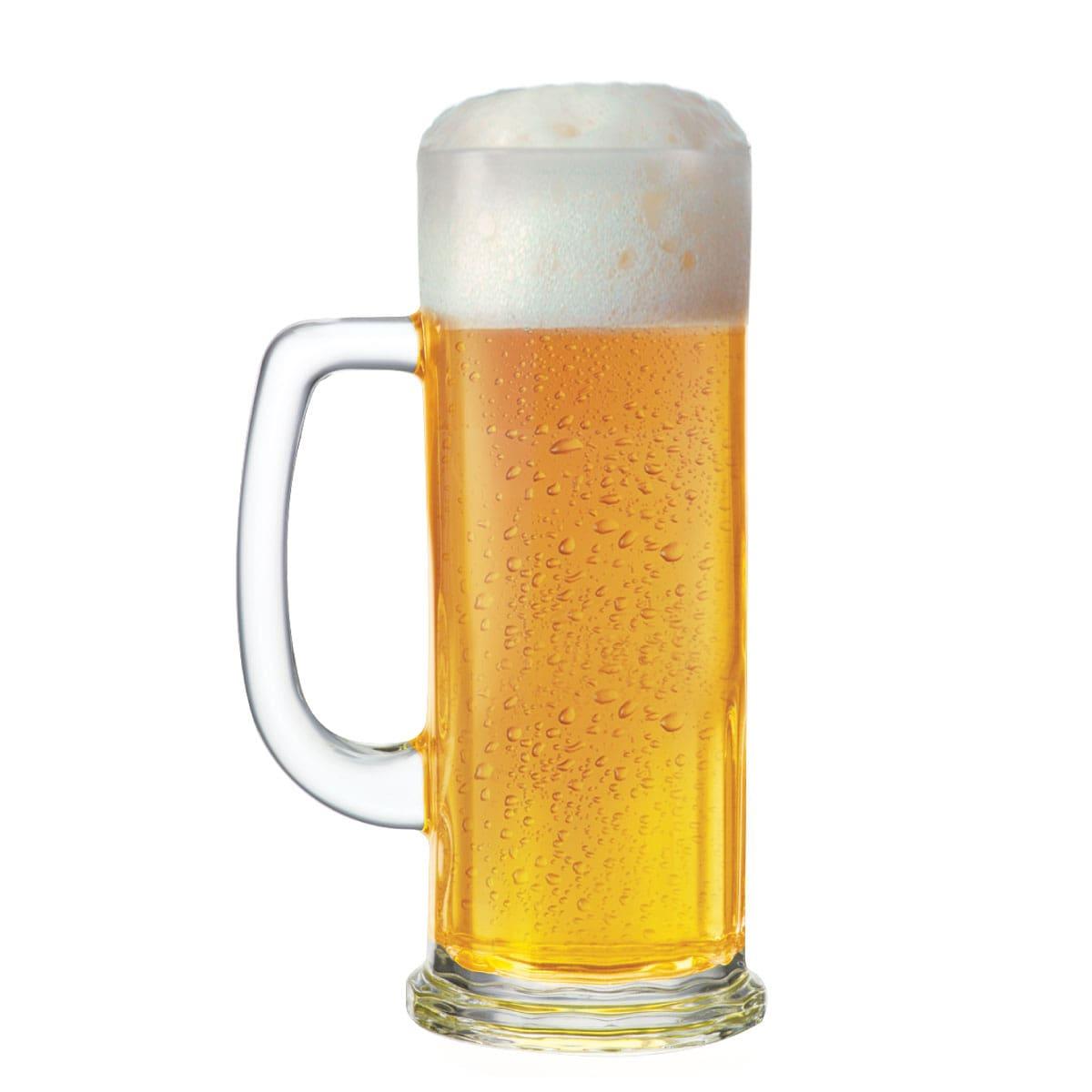 Caneca de Chopp de Vidro ou Cerveja Europa G 620ml