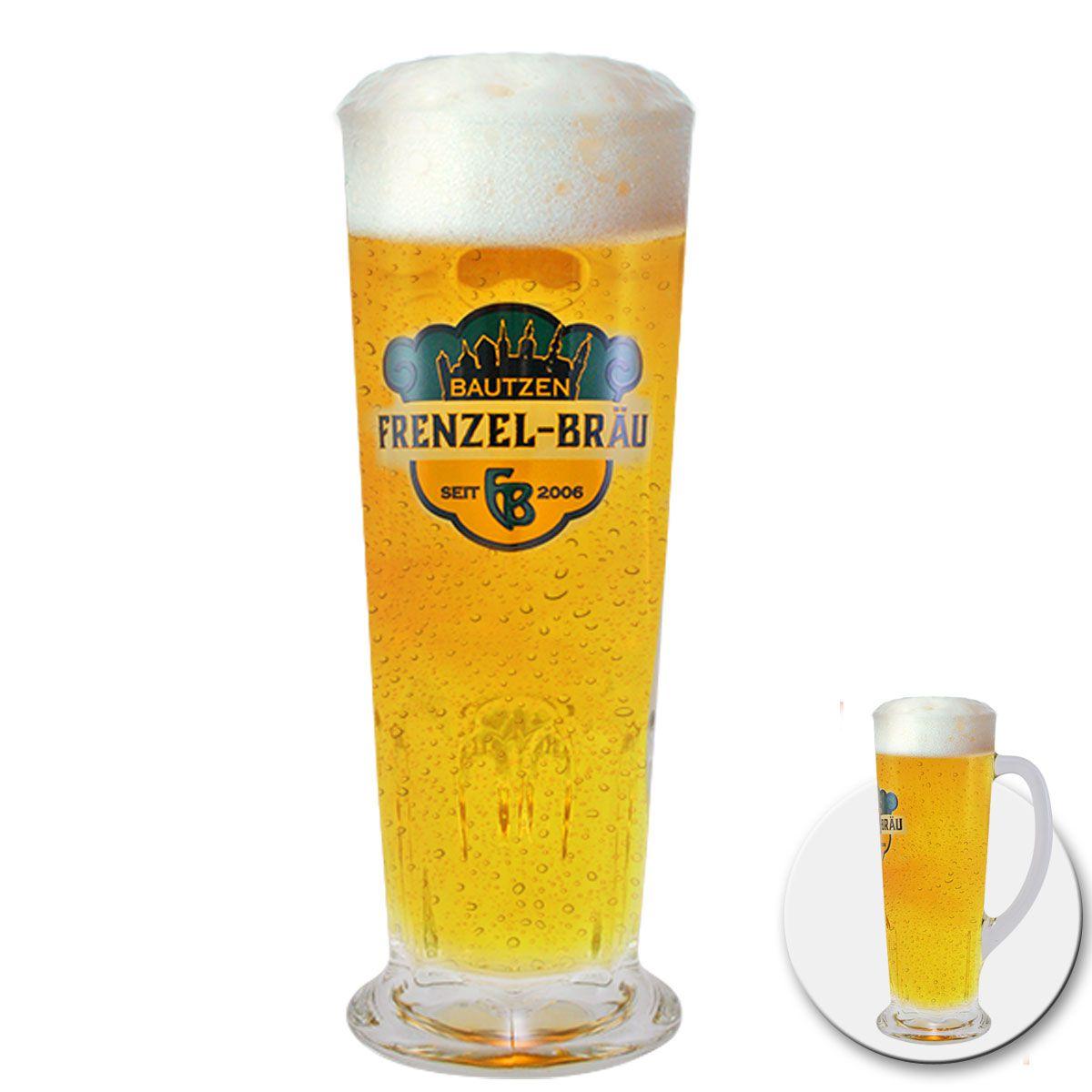 Caneca de Chopp de Vidro ou Cerveja Frenzel Brau 480ml