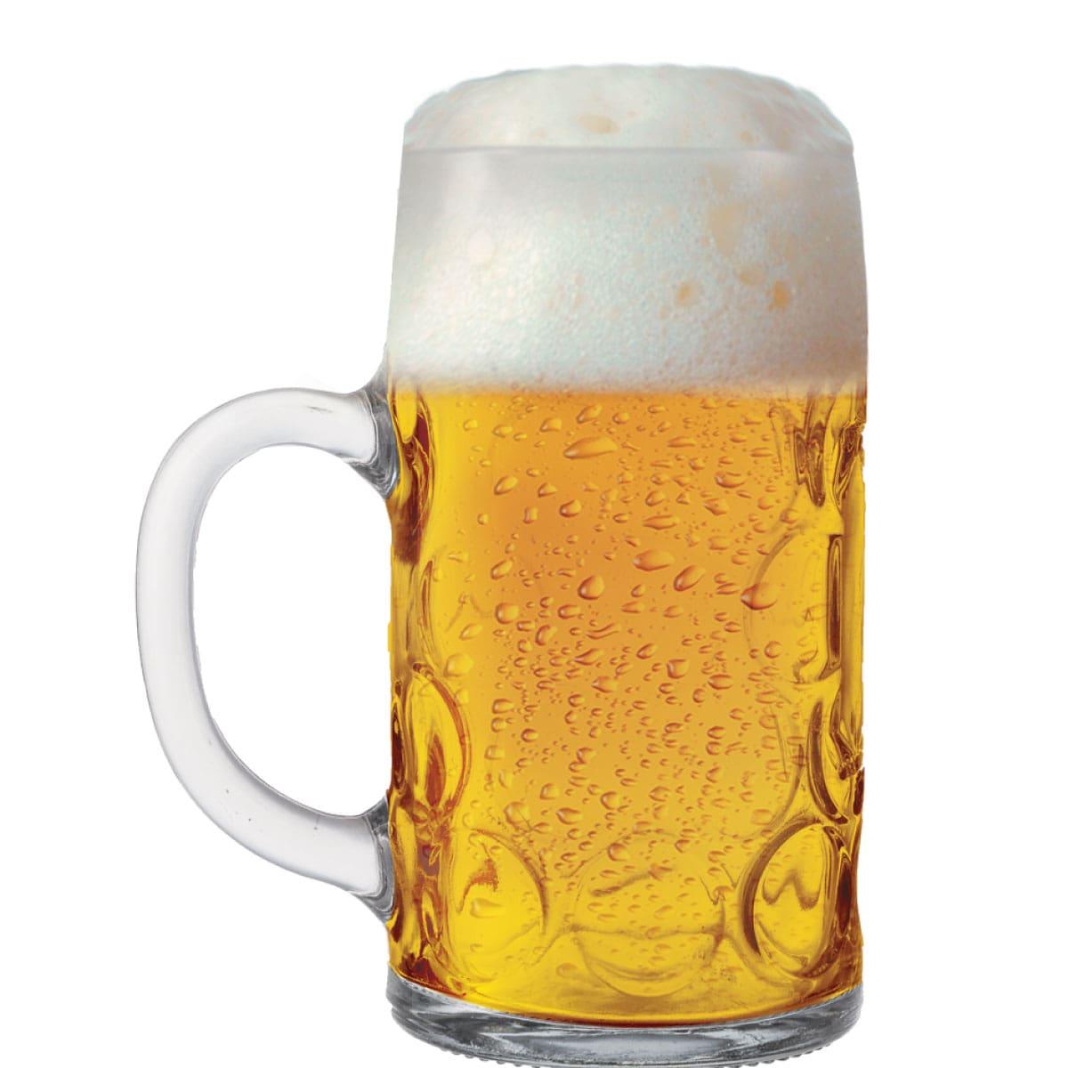 Caneca de Chopp de Vidro ou Cerveja Mass Krug G 1.250ml