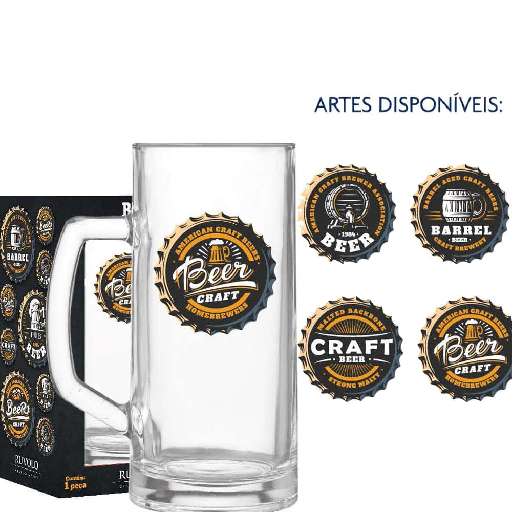 Caneca de Chopp Vidro Berna Lisa Beer Collection 500ml