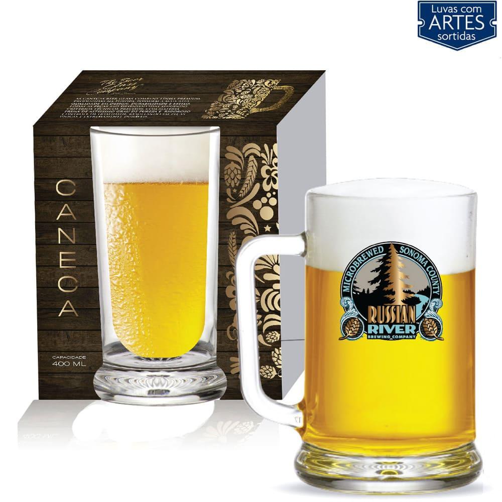 Caneca de Vidro para Cerveja Chopp Star de 670ml 01 pç 01 pç
