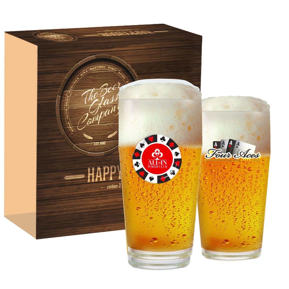 Conjunto de Copos de Vidro para Cerveja Willy de 300ml 2 pcs