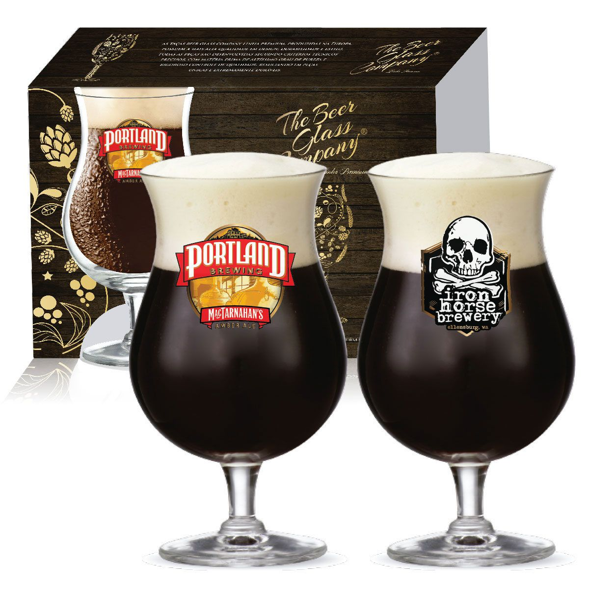 Conjunto de Taça de Cerveja Crista Double Bock 600ml