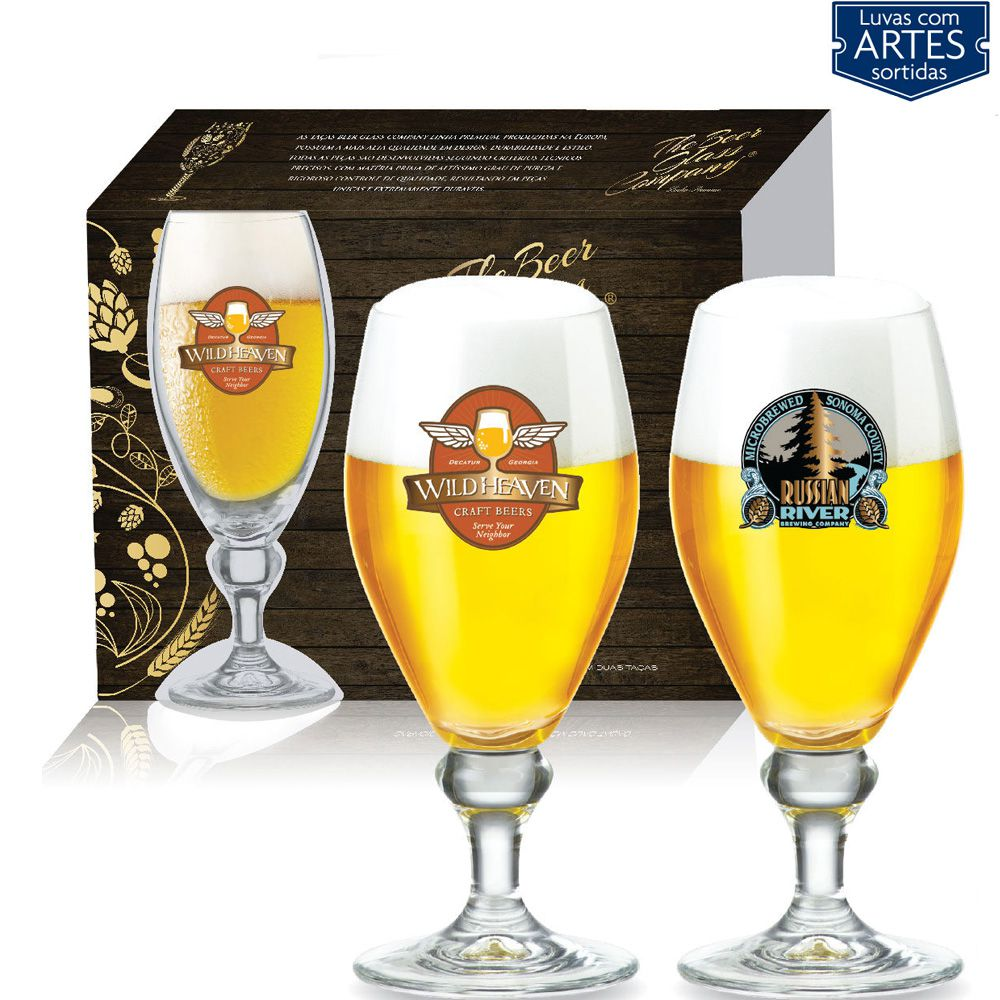 Conjunto de Taça de Cristal para Cerveja Continental de 400ml 2pc