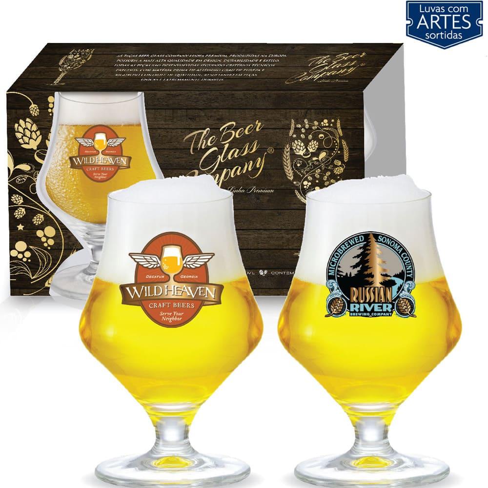 Conjunto de Taça de Cristal para Cerveja Maritim de 430ml 02 peças