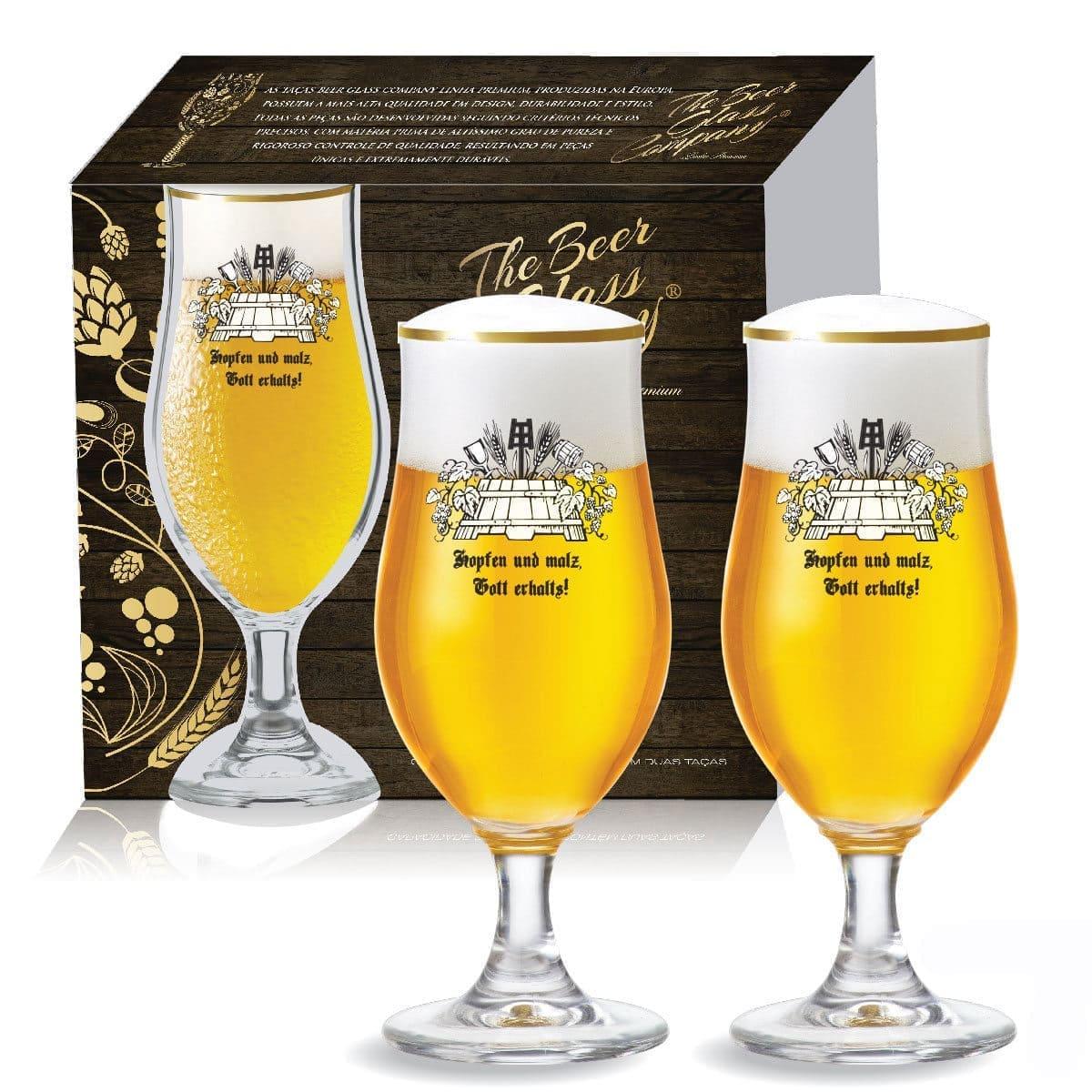 Jogo de Taças Mestre Cervejeiro Cerveja Nevada de 370ml