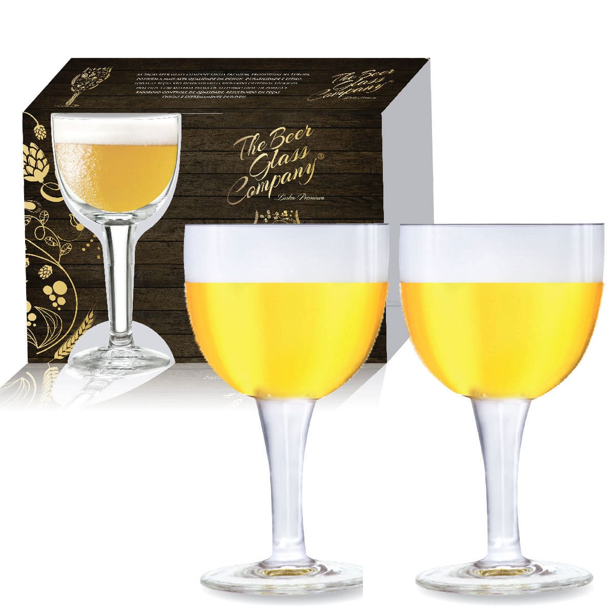 Conjunto de Taça de Vidro para Cerveja Budapest de 415ml