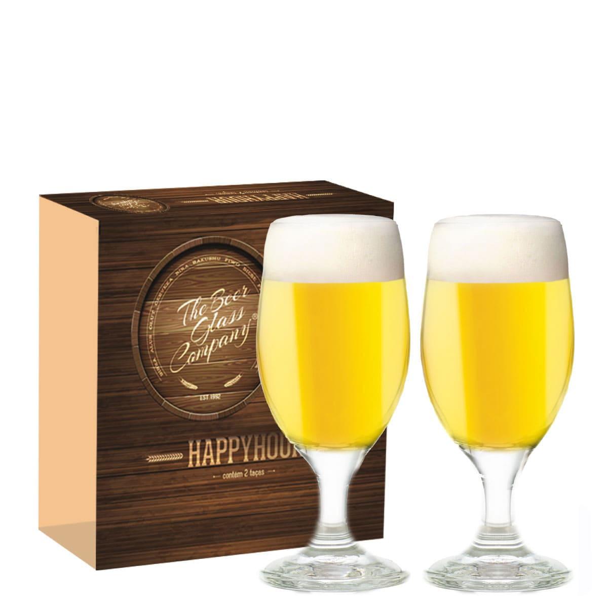 Conjunto de Taças de Vidro para Cerveja Roma de 330ml 02 peças