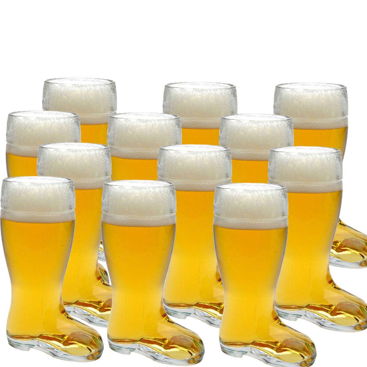 Copo Bota Cerveja Chopp Vidro Formato Stiefel M 620ml Kit c/ 12