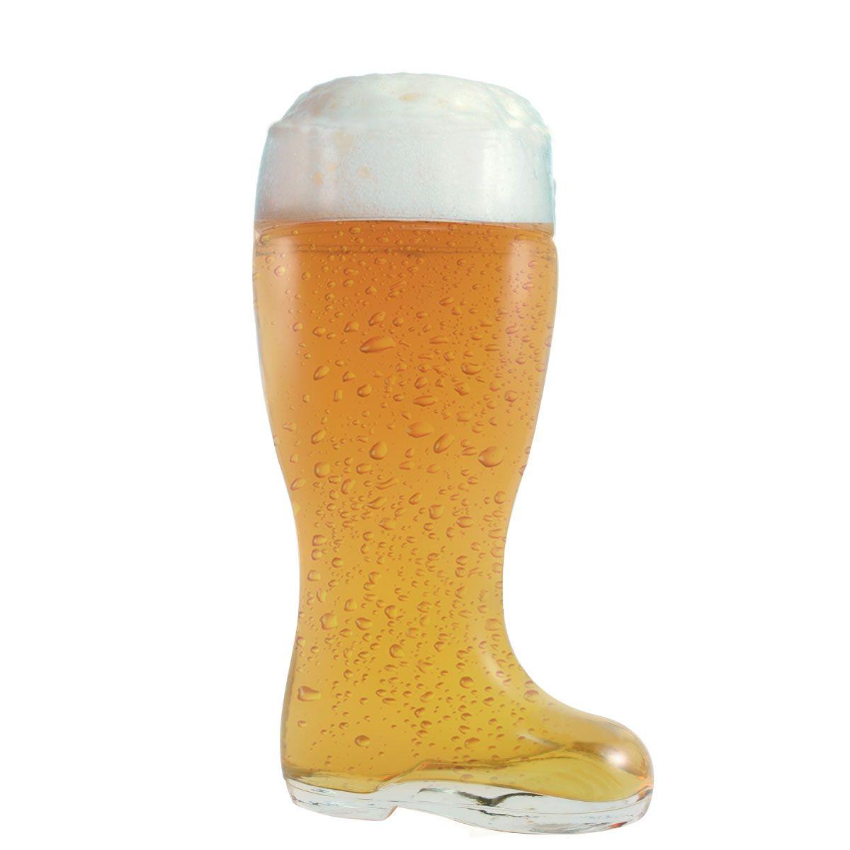 Copo de Cerveja de Vidro - Bota Cerveja Stiefel G 1 Litro