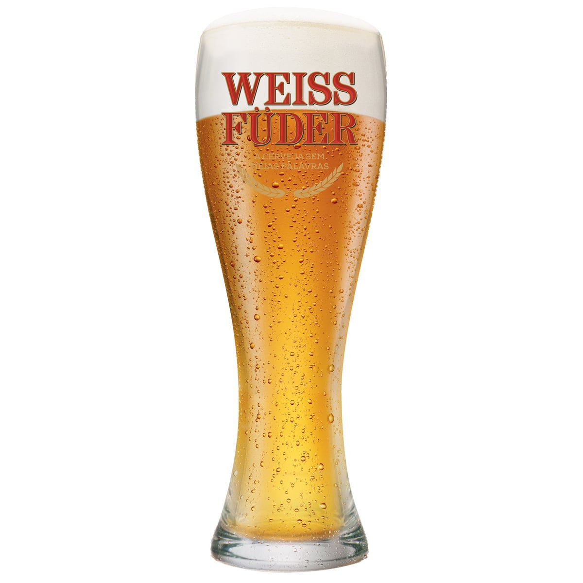 Copo Cerveja de Vidro Weiss Füder 400ml