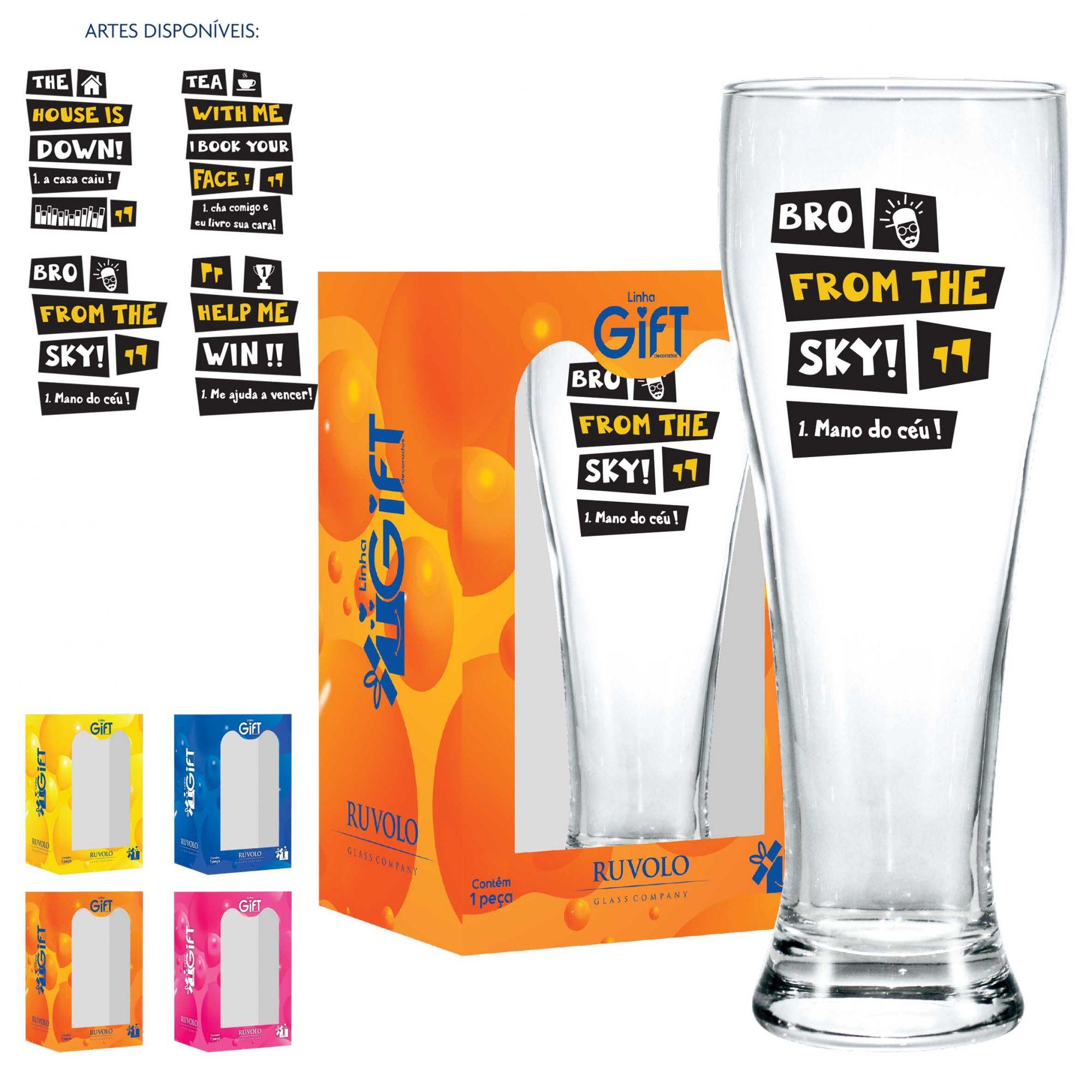 Copo Cerveja de Vidro Weiss G Inglês 675ml