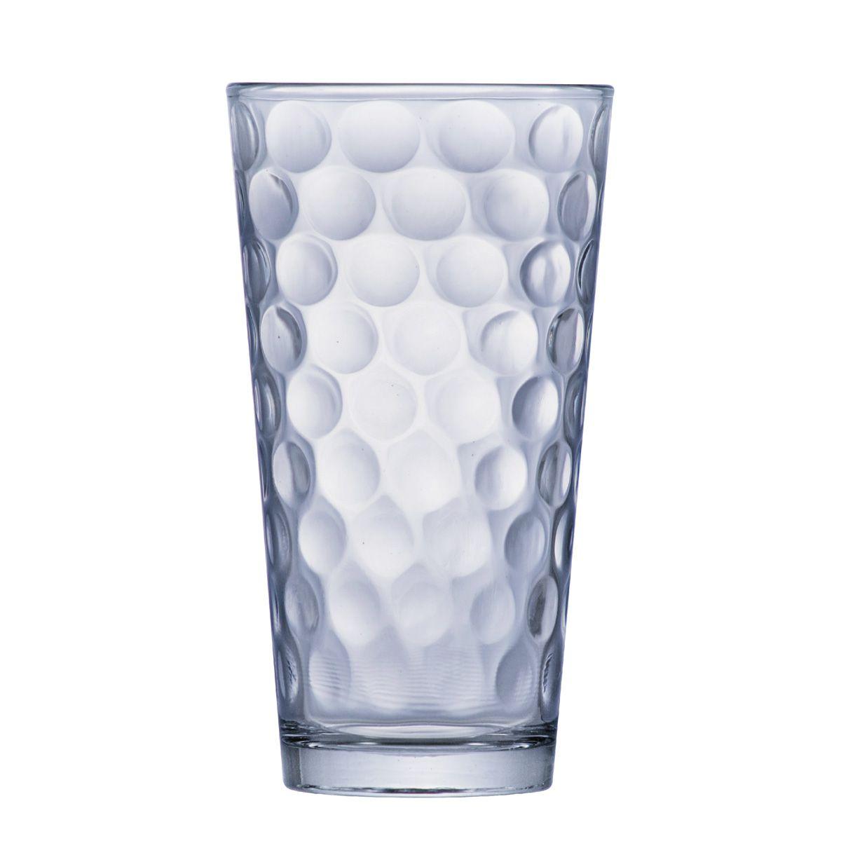 Copo de Água ou Suco Conic Bubbles 415ml 6 pcs