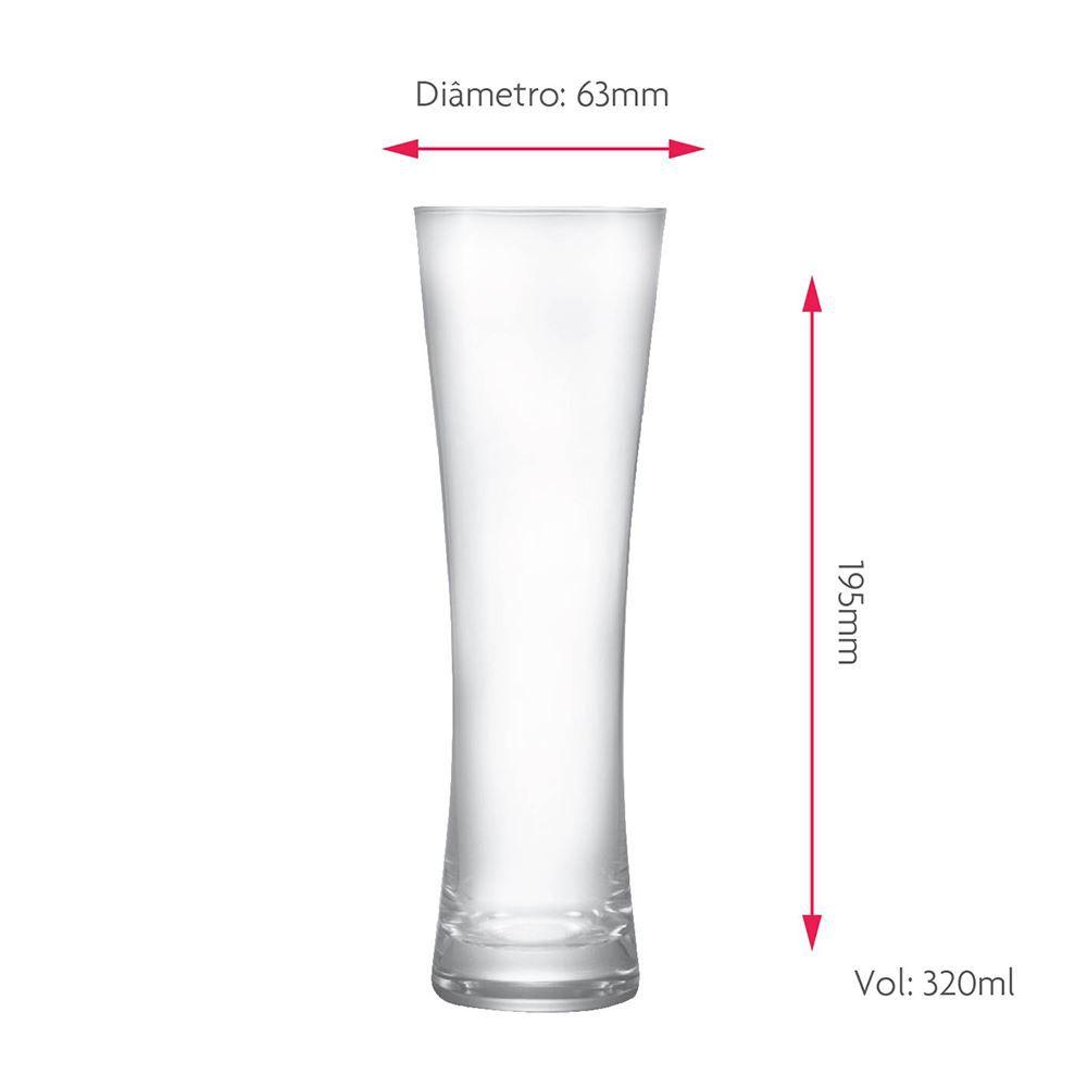 Copo de Cerveja Blanc P Cristal 320ml