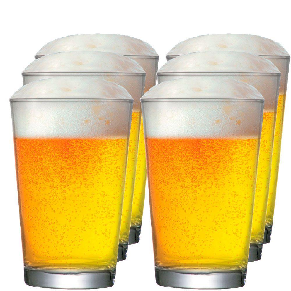 Copo De Cerveja Caldereta M 350ml - Conjunto Jogo 6 Pcs