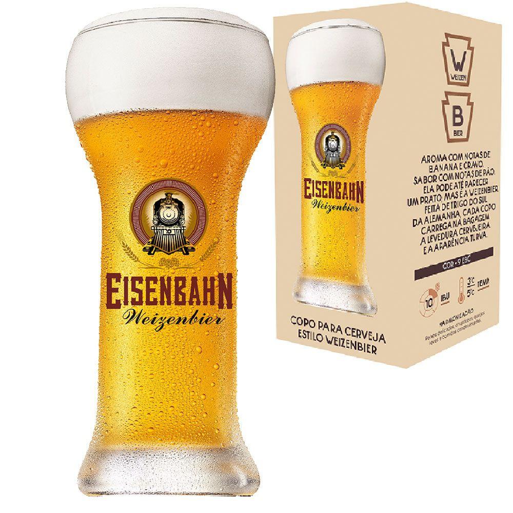 Copo de Cerveja Cristal Eisenbahn Weizenbier 480ml