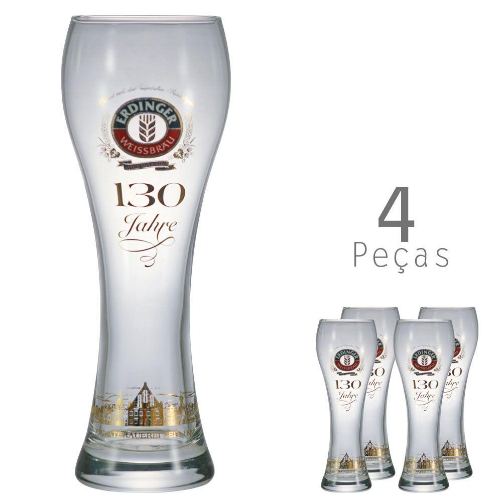 Copo De Cerveja Cristal - Erdnger 650ml Kit c/ 04