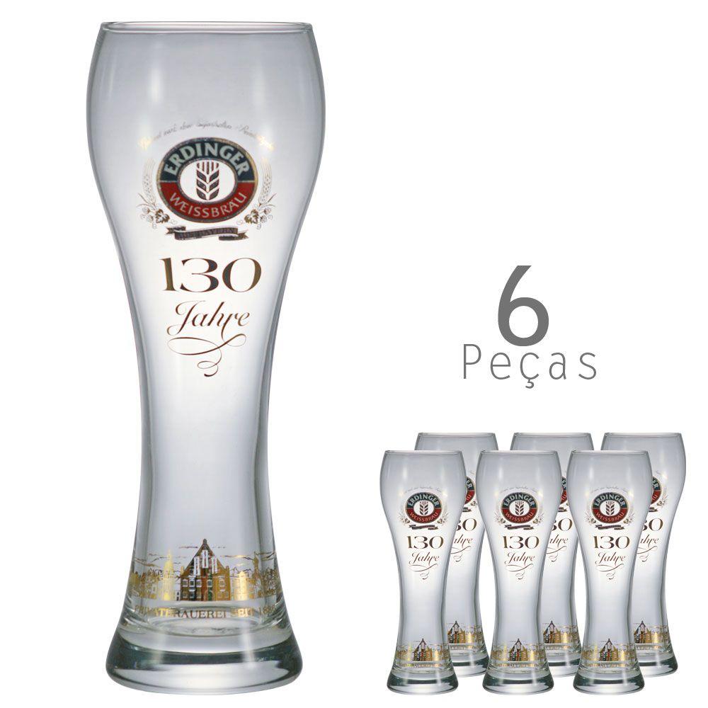 Copo De Cerveja Cristal - Erdnger 650ml Kit c/ 06