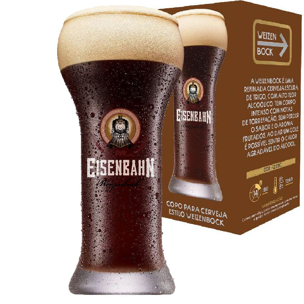 Copo Cerveja de Cristal Eisenbahn Weizenbock 510ml