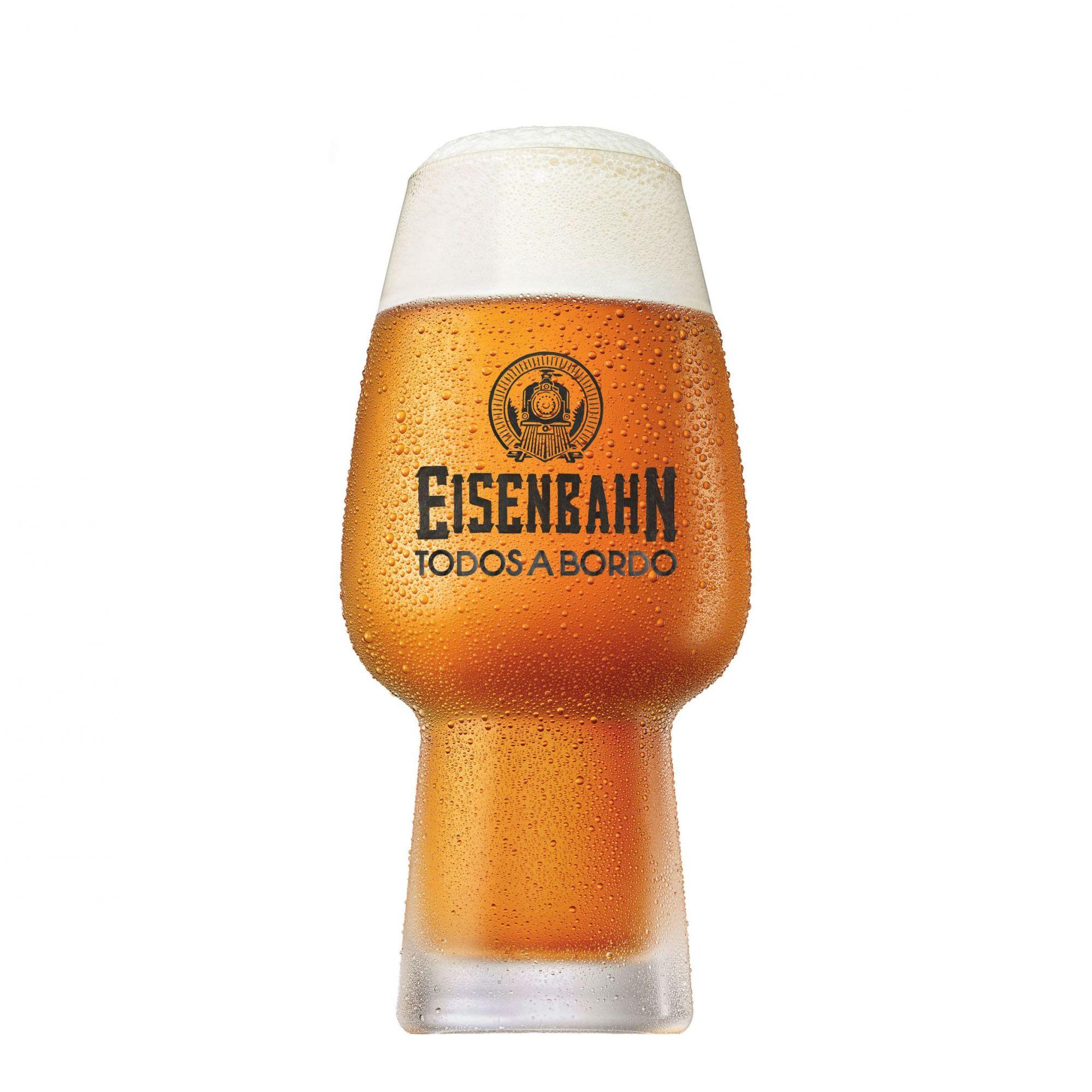 Copo Cerveja Eisenbahn Todos a Bordo 400ml Cristal