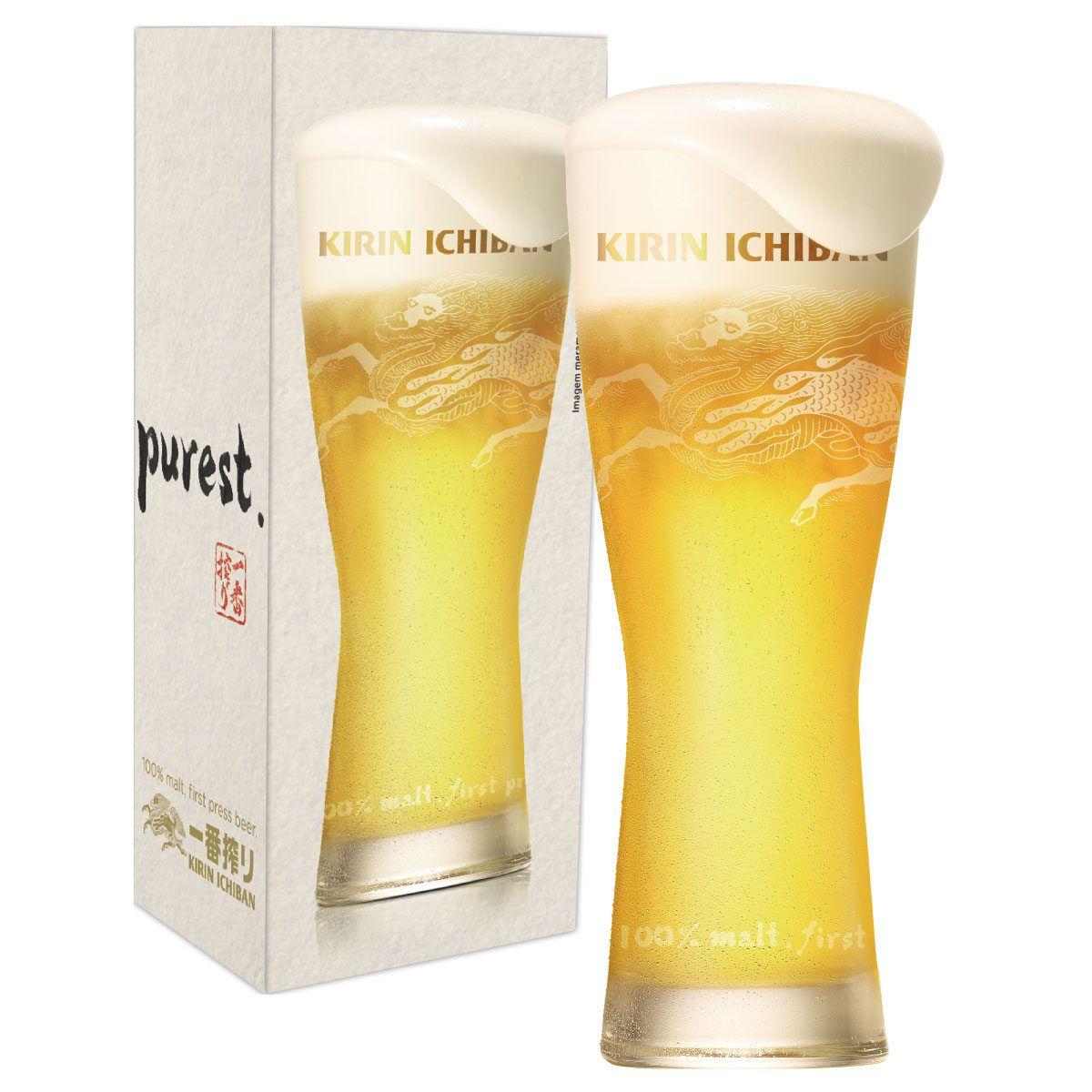 Copo de Cerveja Vidro Kirin Ichiban de 420ml