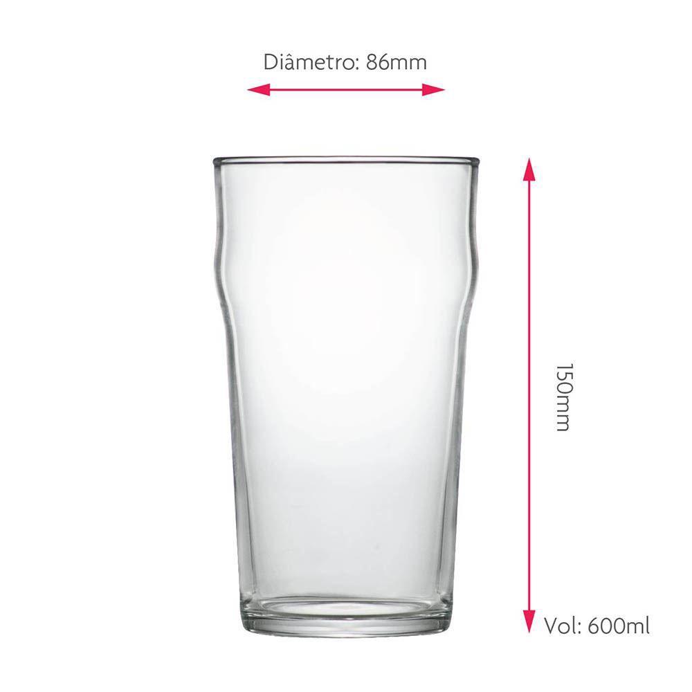 Copo de Cerveja Nonic G Vidro 590ml