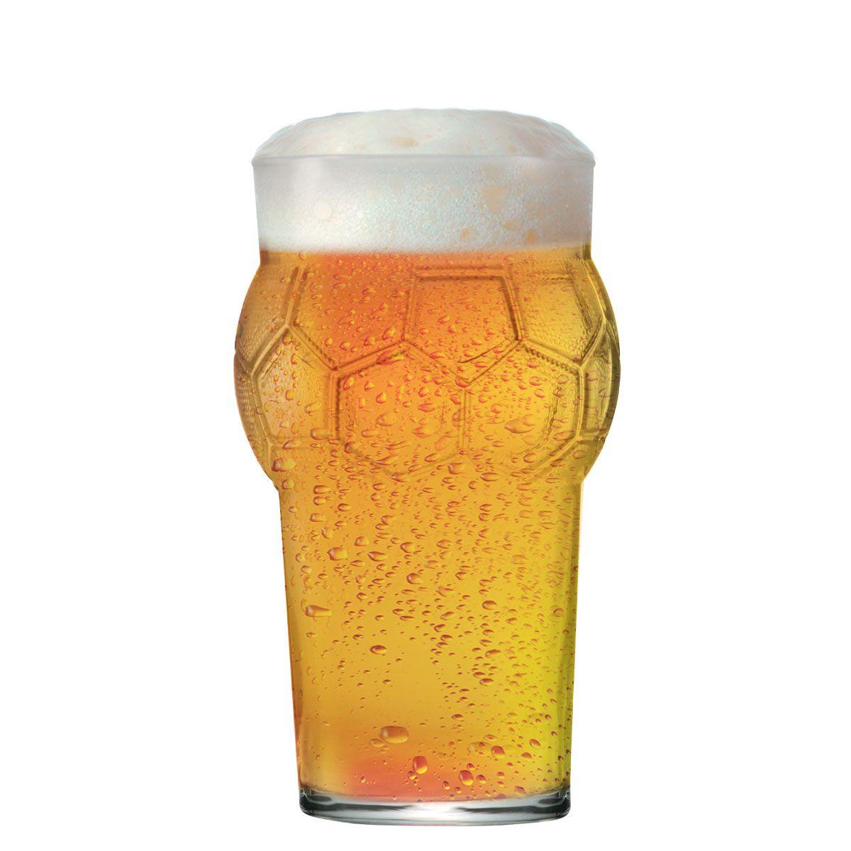 Copo de Cerveja Pint Bola Futebol 580ml
