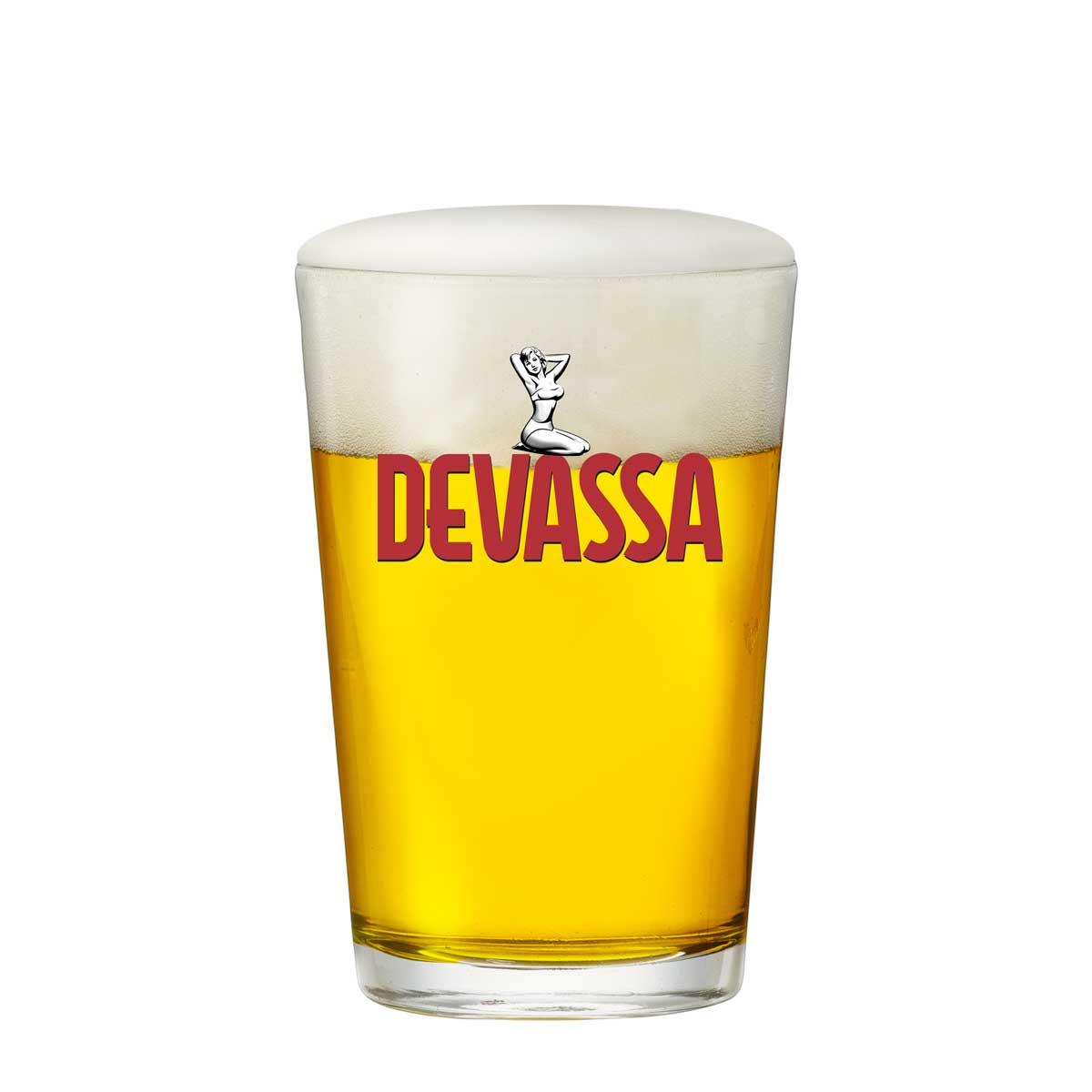 Copo de Cerveja Vidro Devassa 300ml