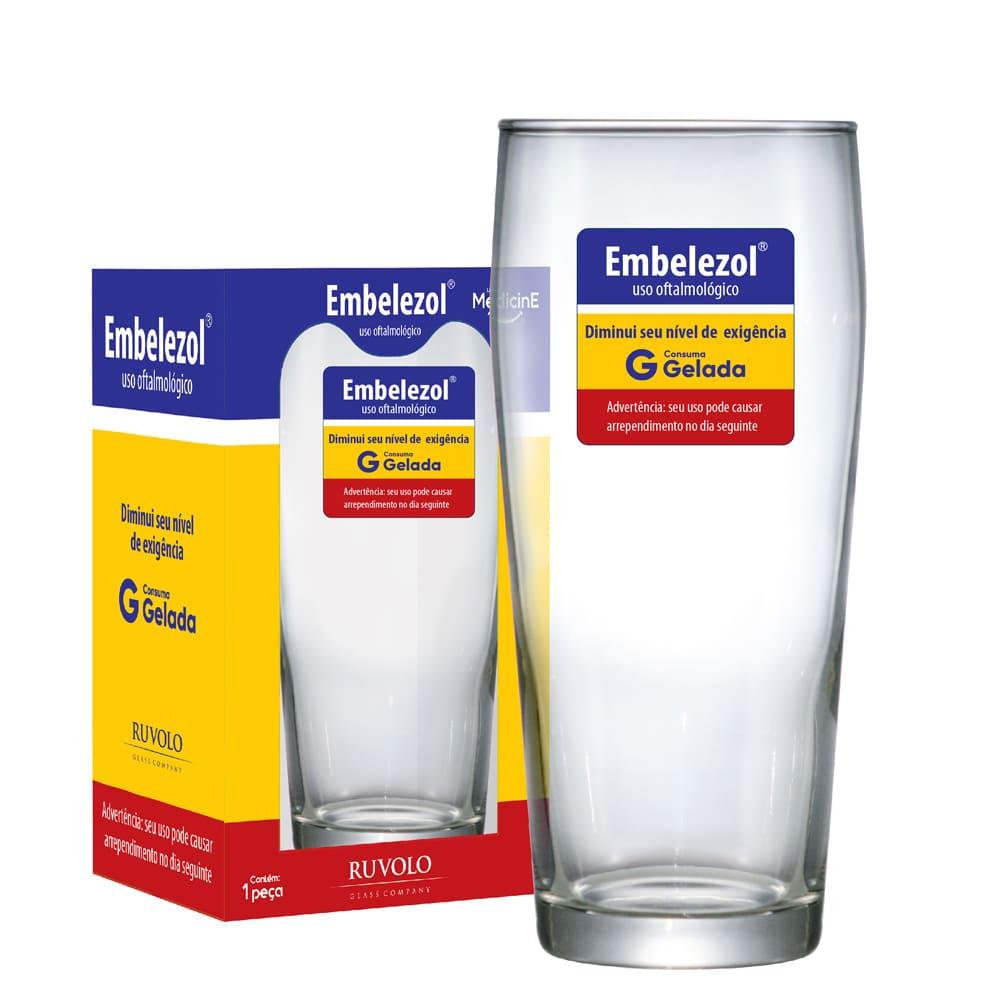 Copo Cerveja Vidro Willy Linha Medicine 485ml