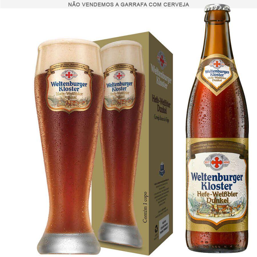 Copo de Cerveja Cristal Weltenburguer Hefe Weissbier Dunkel 680ml