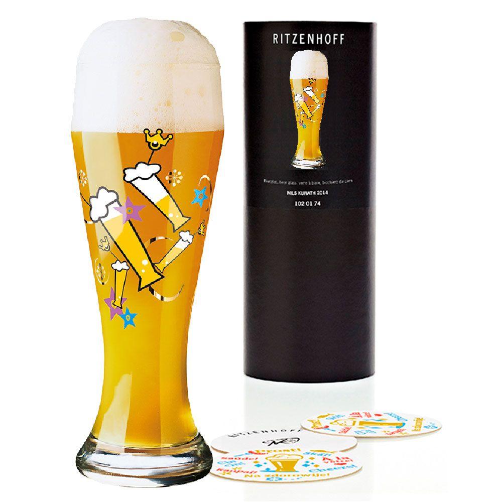 Copo de Cerveja Vidro Ritzenhoff Wheatbeer Glass Melissa Anne Kwee 2009 500ml