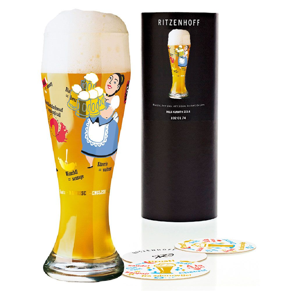 Copo de Cerveja Ritzenhoff Wheatbeer Glass Nils Kunath 2006 500ml