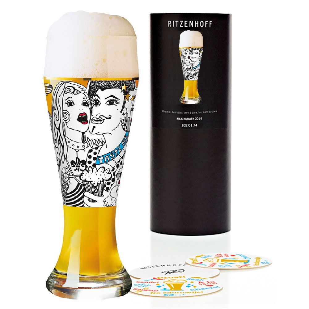 Copo de Cerveja Ritzenhoff Wheatbeer Glass Peschkes 2010 500ml
