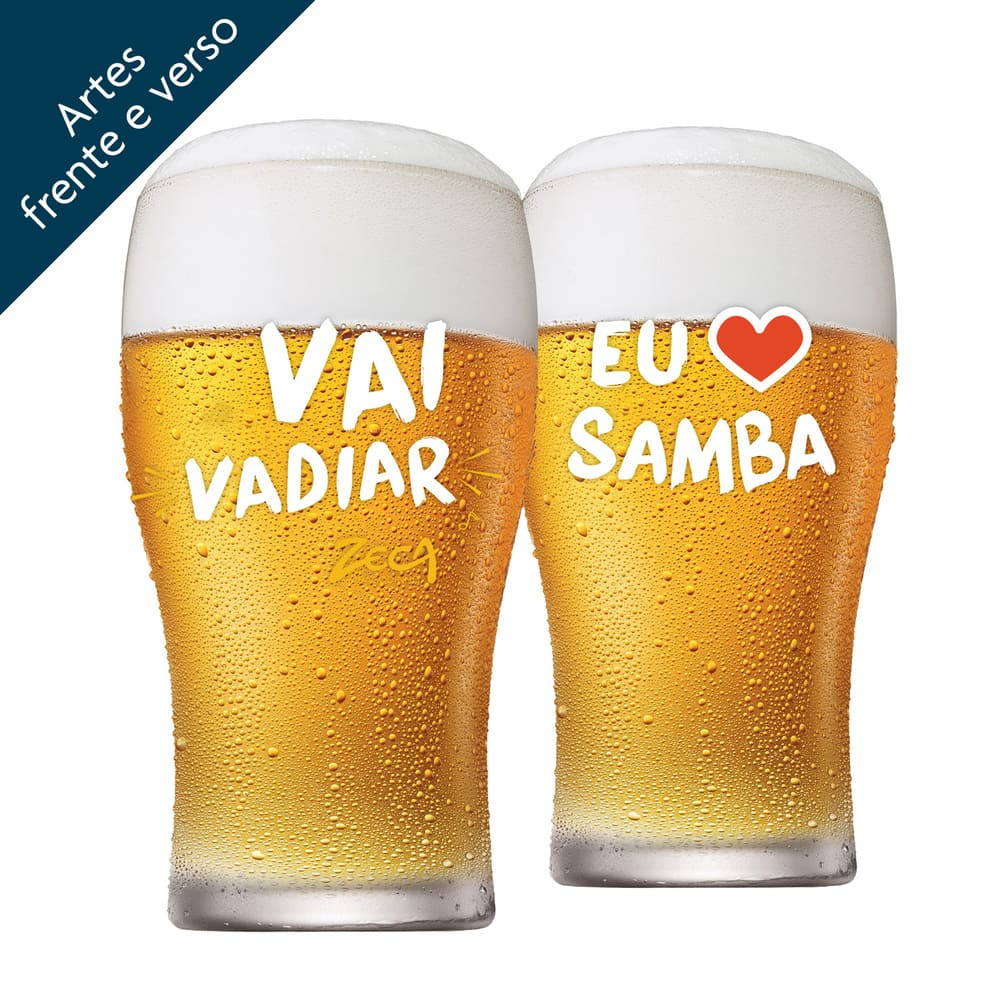 Copo Cerveja Zeca Pagodinho Half Pint Vidro 295ml 4 Pcs