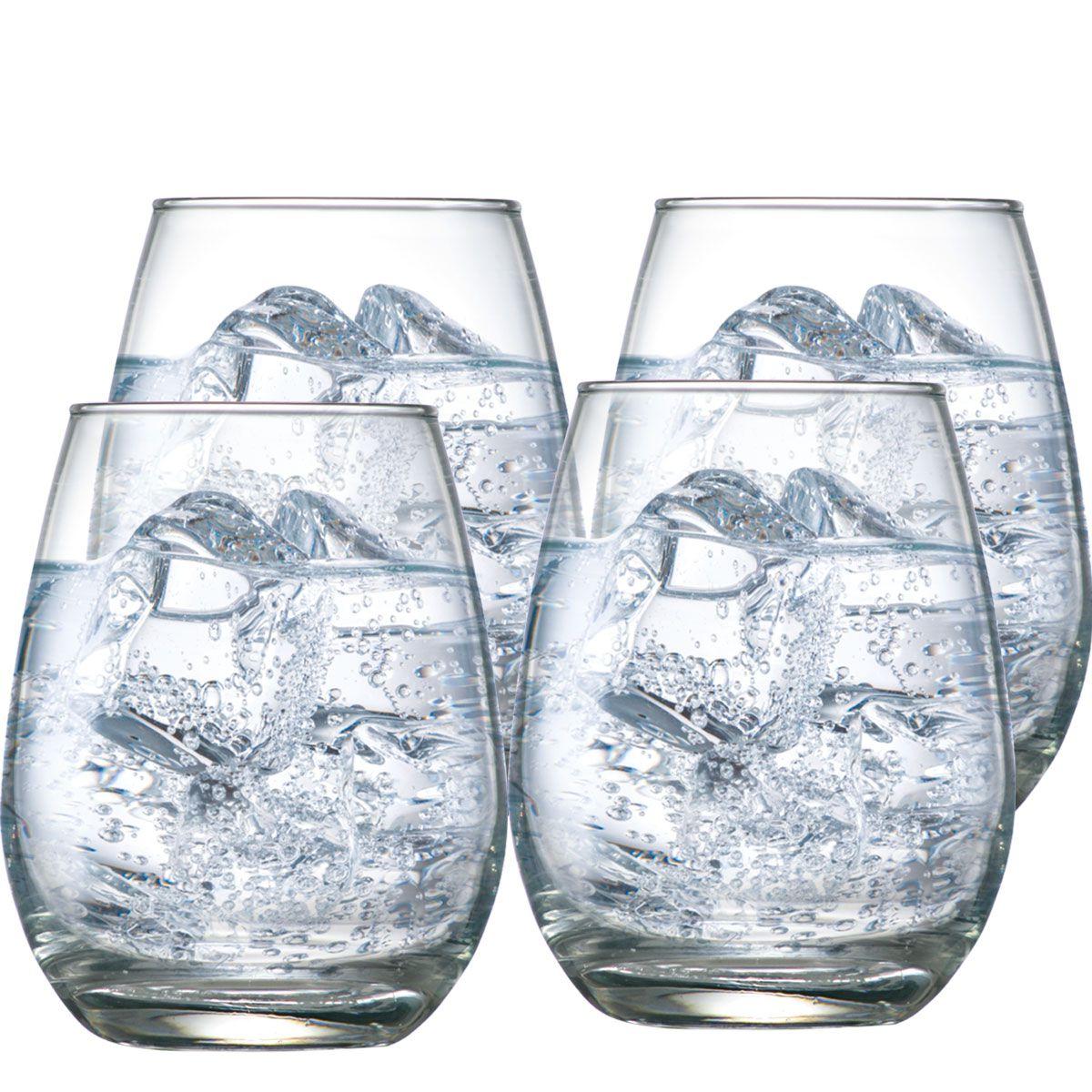 Copo de vidro Emerald Água 350ml 4 pcs