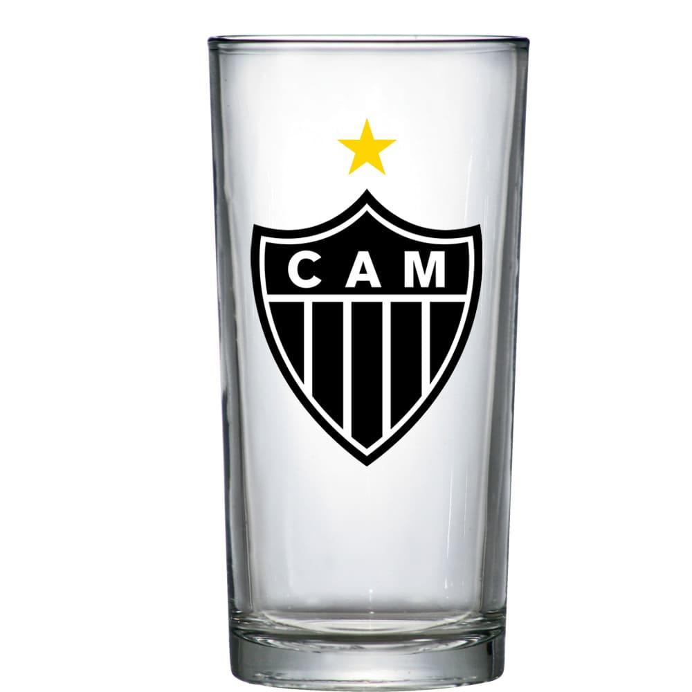 Copo de Vidro Long Drink Atlético Mineiro de 300ml