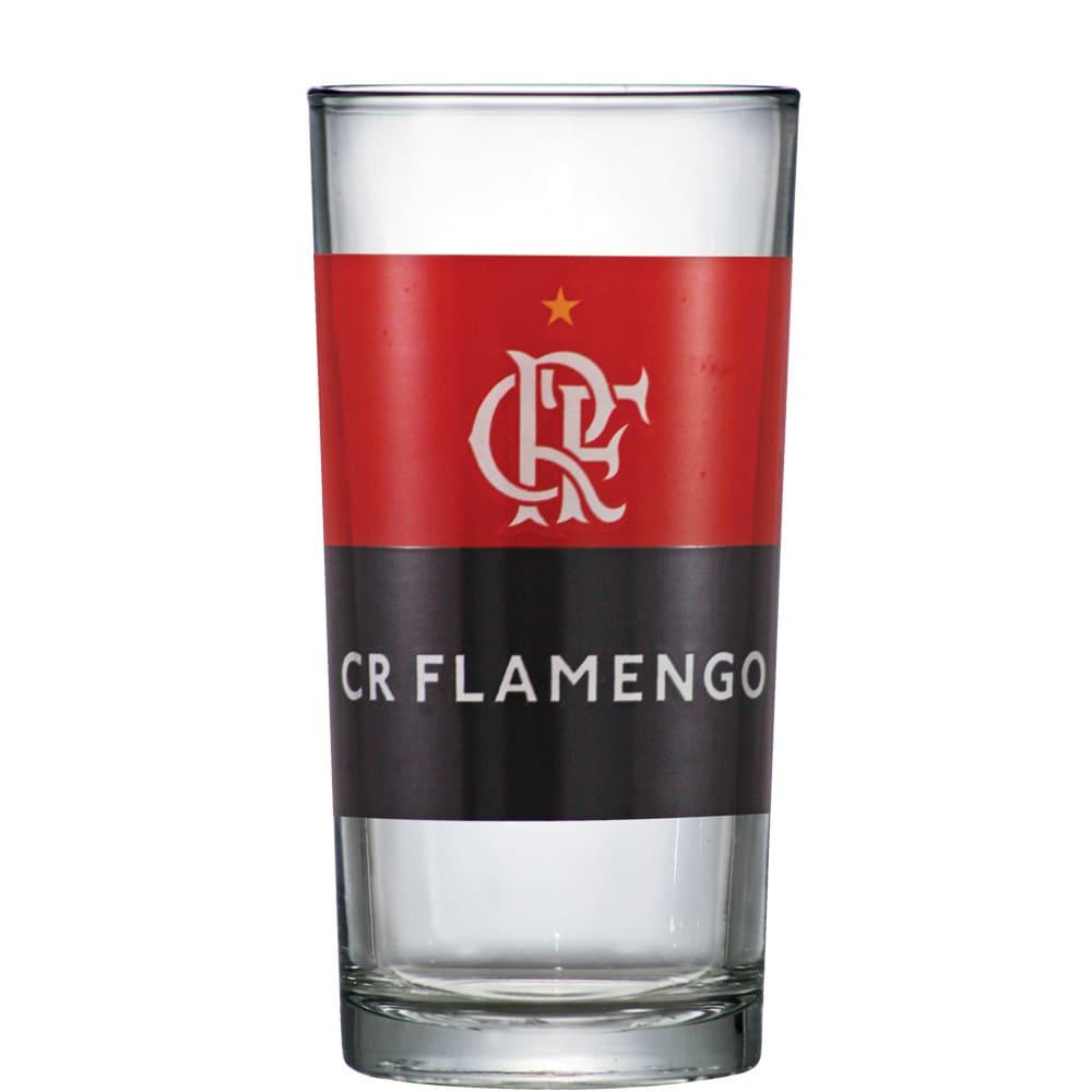 Copo de Vidro Long Drink Flamengo de 300ml