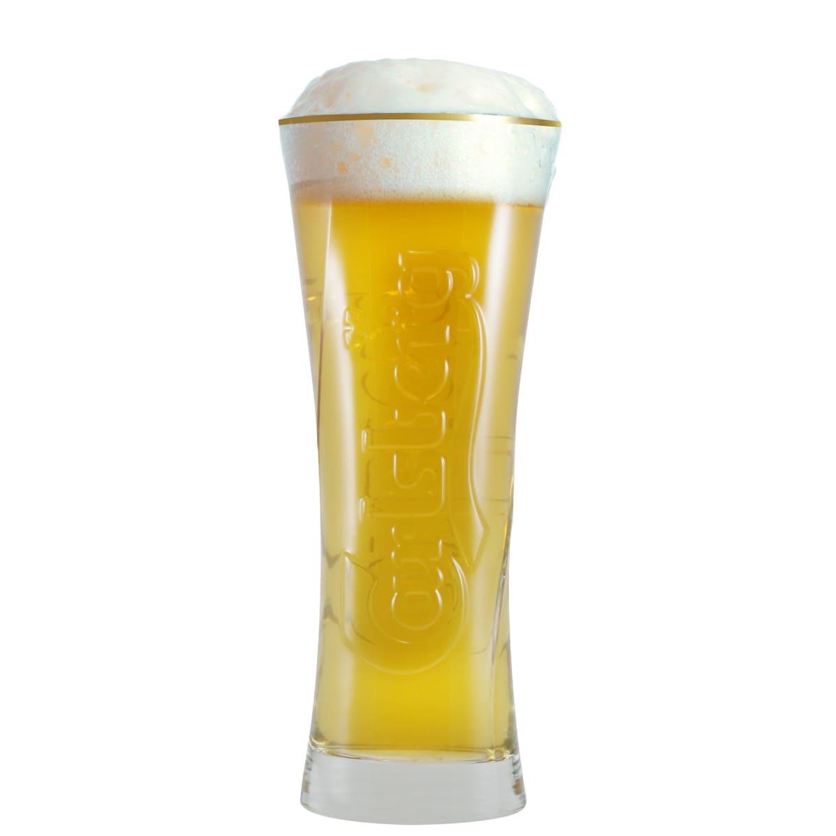 Copo para Cerveja Carlsberg Relevo G com 600ml