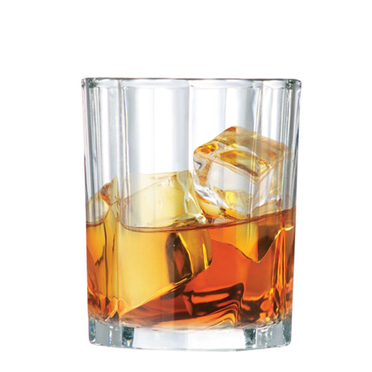 Copo Whiskys Shot Vidro Jogo Conjunto 280ml Kit Rocks 2 Pcs