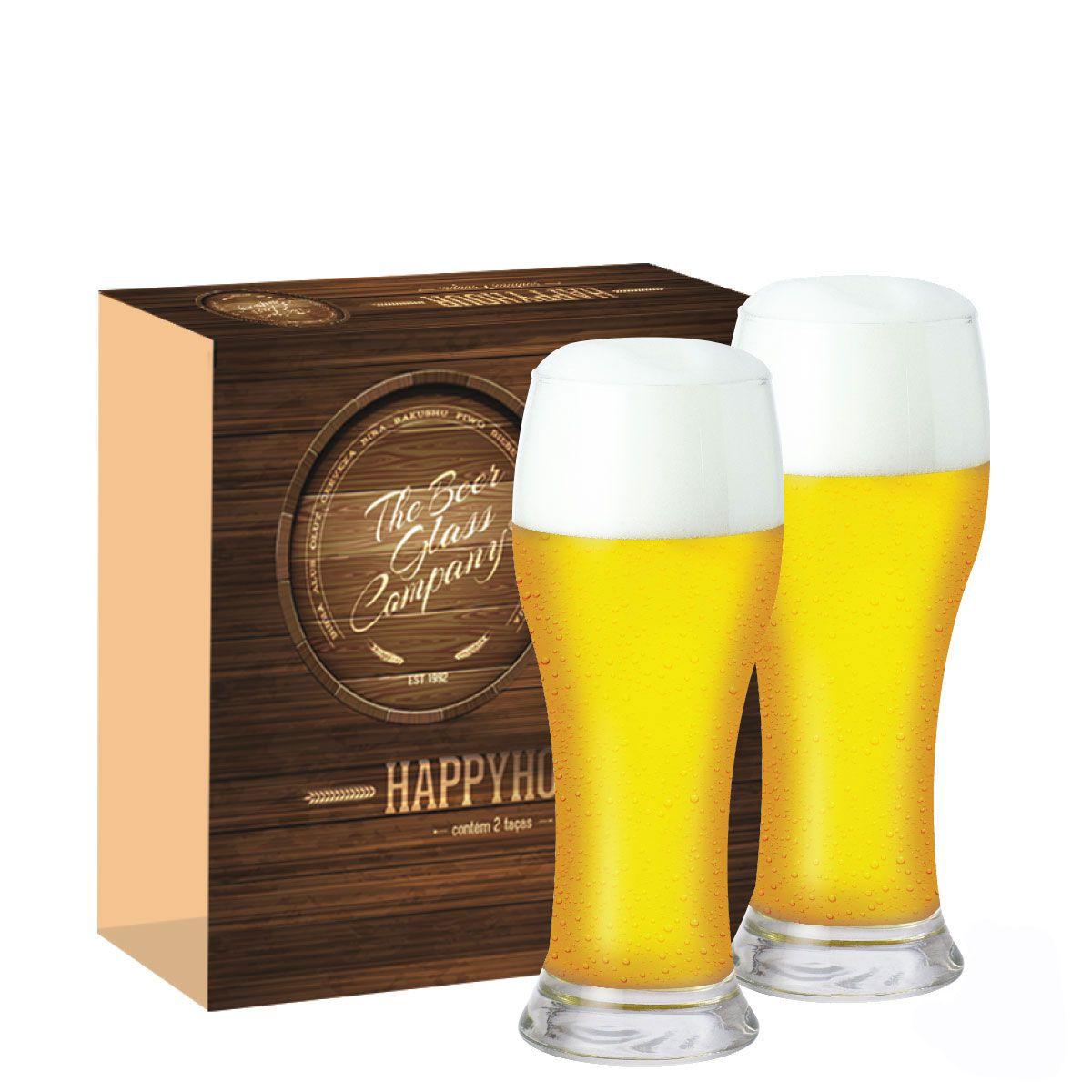 Jogo Copos Cerveja Happy Hour Brasserie 2 Pçs Vidro 590ml