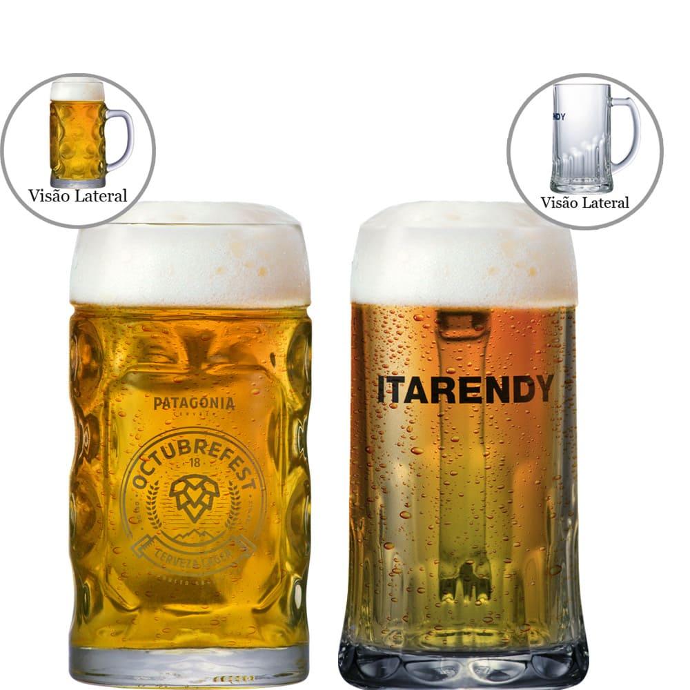 Jogo de Canecas de Chopp Coleção Cervejas do Mundo 2 pçs