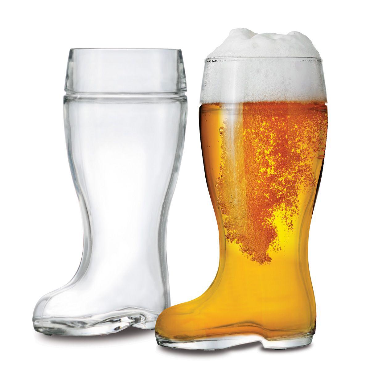 Jogo de Copo Bota Cerveja Stiefel G 1 Litro 2 Peças
