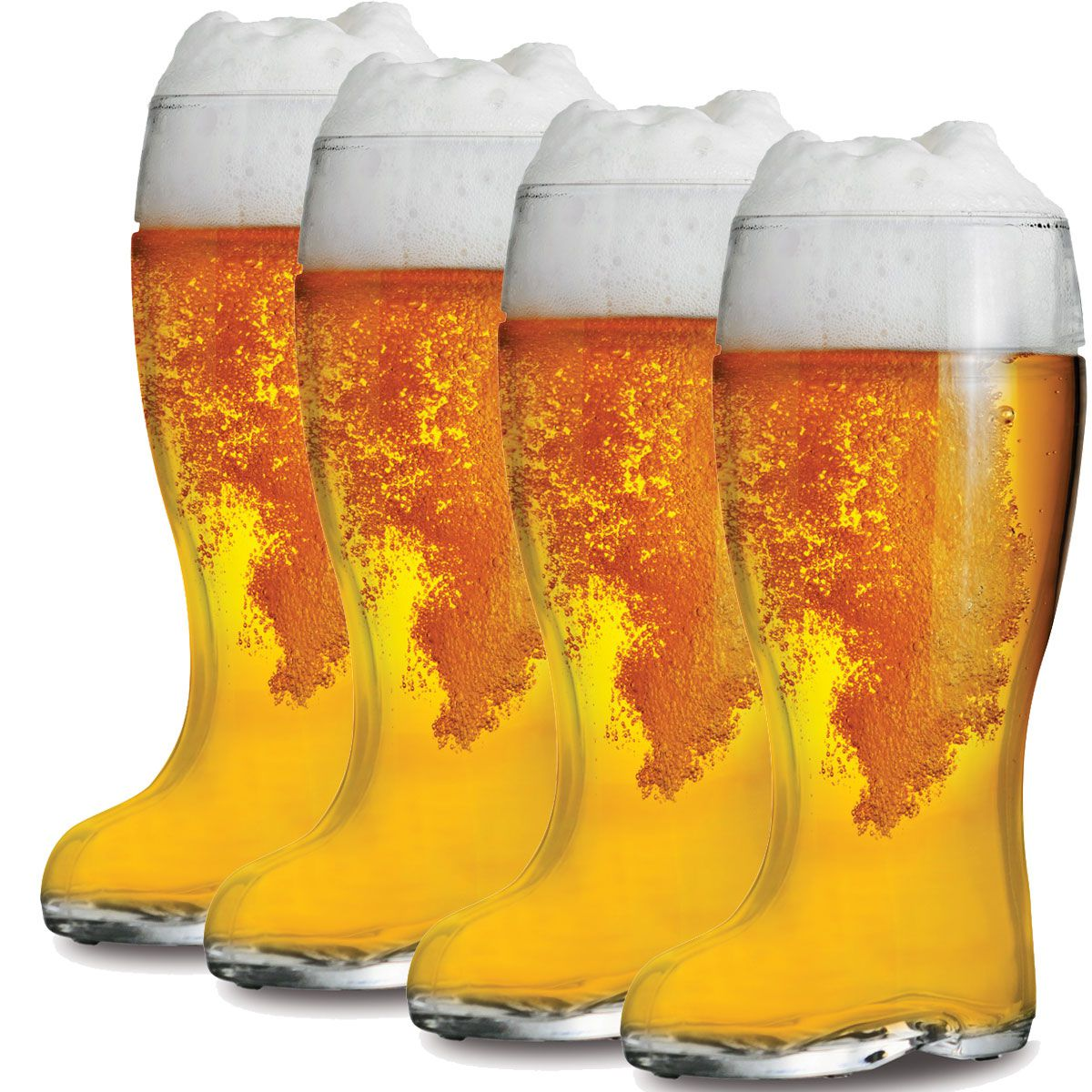 Jogo de Copo Bota Cerveja Stiefel G 1 Litro 4 Peças