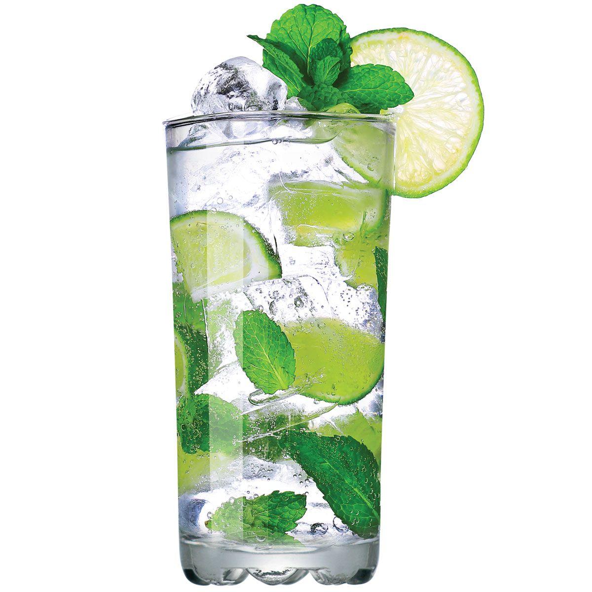 Jogo de Copo de Água Vidro Miragem Long Drink 300ml 12 Pcs